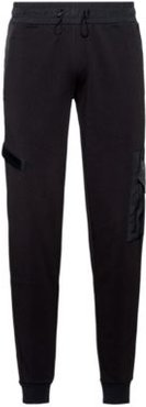 BOSS - Relaxed Fit Jogging Pants In French Terry With Technical Trims - Black