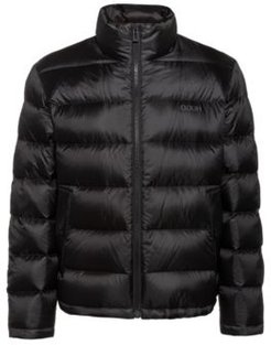 BOSS - Relaxed Fit Down Jacket With Reversed Logos - Black