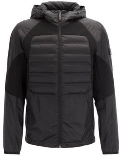 HUGO BOSS - Water Repellent Down Jacket With Stretch Inserts - Black