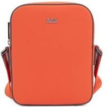 HUGO BOSS - Signature Collection Reporter Bag In Rubberized Italian Leather - Orange