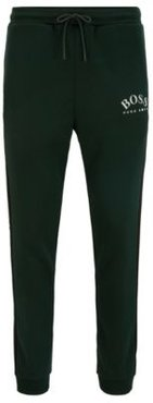 HUGO BOSS - Slim Fit Jogging Pants With Curved Logo - Open Green