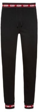 BOSS - Regular Fit Pants In Cotton With Logo Trims - Black