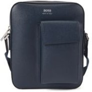 HUGO BOSS - Signature Collection Bag In Italian Leather With Phone Pocket - Dark Blue