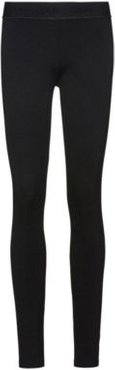 BOSS - Super Skinny Fit Jersey Pants With Zippered Hems - Black