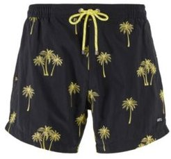 HUGO BOSS - Quick Drying Swim Shorts With Embroidered Motif - Black