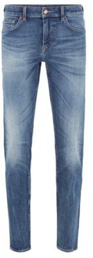 HUGO BOSS - Extra Slim Fit Jeans In Mid Blue Carded Denim - Blue