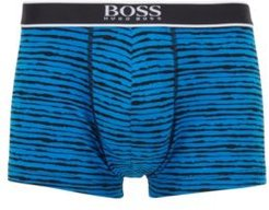 HUGO BOSS - Stretch Cotton Trunks With All Over Print - Blue
