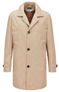 HUGO BOSS - Regular Fit Coat With Removable Padded Lining - Light Beige