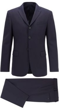 HUGO BOSS - Relaxed Fit Suit In Stretch Virgin Wool - Dark Blue
