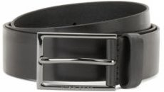 HUGO BOSS - Italian Made Belt In Vegetable Tanned Leather - Black