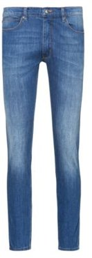 BOSS - Extra Slim Fit Jeans In Comfort Stretch Blue Denim - Blue