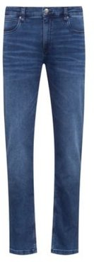 BOSS - Slim Fit Jeans In Blue Jersey Denim - Blue