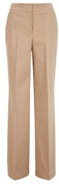 HUGO BOSS - Relaxed Fit Pants In Washed Stretch Cotton - Beige