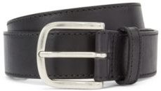 HUGO BOSS - Pin Buckle Belt In Vegetable Tanned Italian Leather - Black