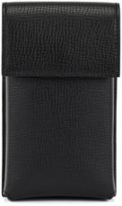HUGO BOSS - Neck Pouch In Italian Leather With Detachable Strap - Black