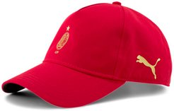 AC Milan 120th Anniversary Baseball Cap in Tango Red -Victory Gold, Size Adult