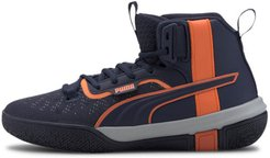 Legacy Madness Basketball Shoes JR in Peacoat/Dragon Fire, Size 4.5