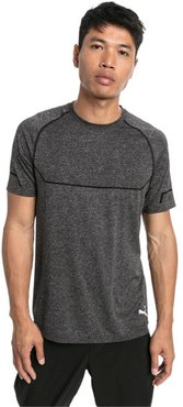 Energy Seamless T-Shirt in Black Heather, Size L