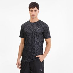 Blast Men's AOP T-Shirt in Black-Geo print, Size XXL
