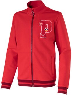 x SESAME STREET Kids' Sweat Jacket in High Risk Red, Size XXS