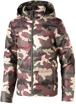 Classics Boys' Down AOP Jacket JR in Forest Night, Size L