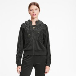 x CHARLOTTE OLYMPIA Tailored for Sport Women's Track Jacket in Black, Size L