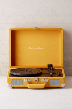 Crosley UO Exclusive Velvet Cruiser Bluetooth Record Player - Yellow at Urban Outfitters