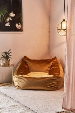 Cooper Velvet Lounge Chair - Gold at Urban Outfitters