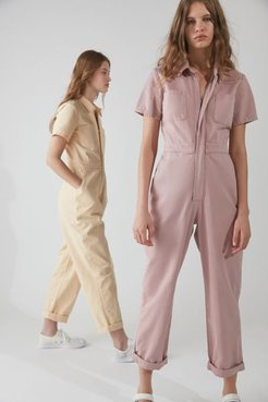 UO Canvas Flight Jumpsuit - Purple Xs at Urban Outfitters