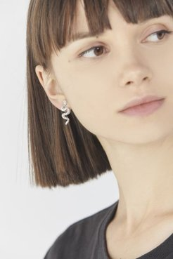 Mini Snake Post Earring - Silver at Urban Outfitters