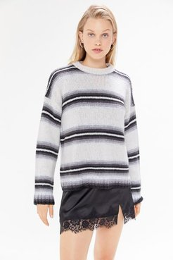 UO Bobby Boyfriend Striped Crew-Neck Sweater - Black M at Urban Outfitters