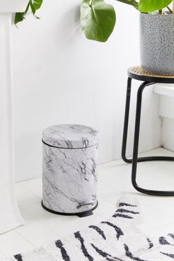 Marble Round Top Step Trash Can - White at Urban Outfitters
