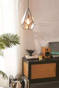 Gemma Glass Pane Pyramid Pendant Light