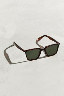 Herman Thin Square Sunglasses - Brown at Urban Outfitters