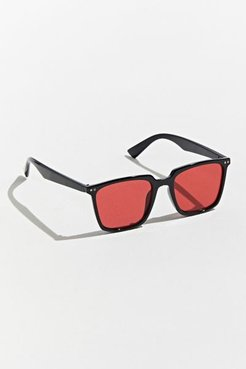 Herman Thin Square Sunglasses - Red at Urban Outfitters