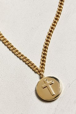 Cross Pendant Necklace - Gold at Urban Outfitters