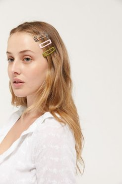 Oh Snap Hair Clip Set - Green at Urban Outfitters