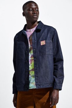 Player 1 Denim Jacket - Blue L at Urban Outfitters
