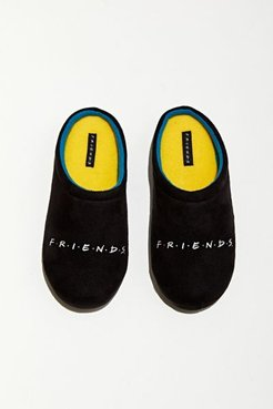 Friends Plush Slipper - Black 11 at Urban Outfitters