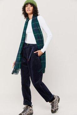 Corduroy Tuck Tapered Pant - Blue S at Urban Outfitters