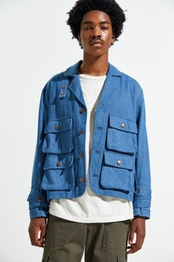 Pocket Jacket - Blue M at Urban Outfitters