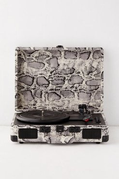 Crosley UO Exclusive Snakeskin Cruiser Bluetooth Record Player - Black at Urban Outfitters