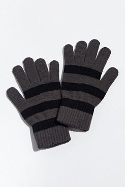 UO Stripe Knit Glove - Black at Urban Outfitters