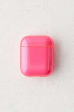 Neon Hard Shell AirPods Case - Pink at Urban Outfitters