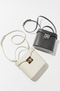 Vintage Archive Structured Crossbody Bag - White at Urban Outfitters