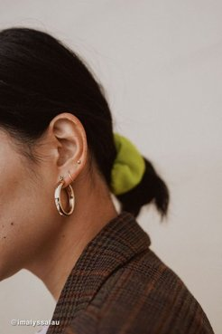 Tessa Chunky Tube Hoop Earring Set - Gold at Urban Outfitters