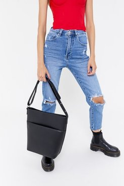 Mia Structured Shoulder Bag - Black at Urban Outfitters
