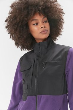 Keena Sherpa Jacket - Purple S at Urban Outfitters
