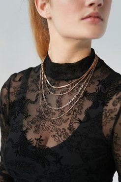 Charlie Chain Layer Necklace - Gold at Urban Outfitters