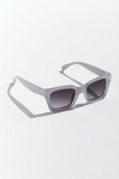 Beveled Plastic Square Sunglasses - Grey at Urban Outfitters